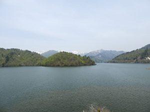 奥利根湖の眺め